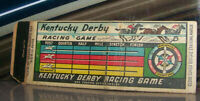 Vintage Matchbook Cover A1 Chicago Illinois Kentucky Derby Horse Racing Game