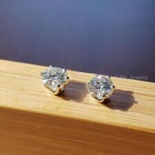 Certified 3.00Ct Forever Round Cut Moissanite Stud Earrings Solid 14K White Gold