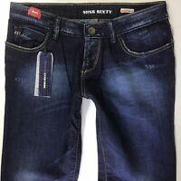 Bnwt Ladies Miss Sixty EXTRA LOW TY Slim Flare Dark Blue Jeans W31 L32 (760h)