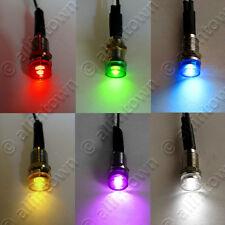LED 12V Pilot Dash Indicator Light Lights Red Green Blue Amber White Purple