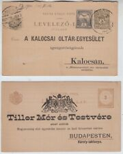 Ungarn, 2 GA-Postkarten mit Privat-Zudruck
