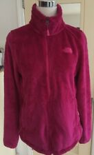 The North Face Womens Pink Fluffy Fleece Jacket Full Zip M