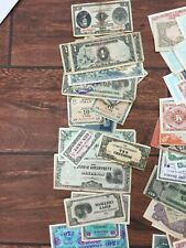 LOT OF WWII MILITARY FOREIGN PAPER MONEY