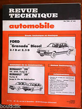 RTA de 1984; Ford Granada diesel 2.1D et 2.5D/ Renault 20 TD-GTD -Turbo D/ 30