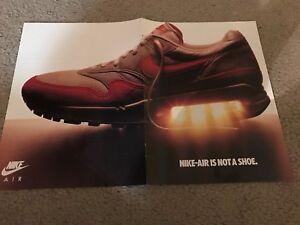 1987 NIKE AIR MAX Shoe Poster Print Ad FORCE SAFARI AIR JORDAN SOCK TRAINER HIGH