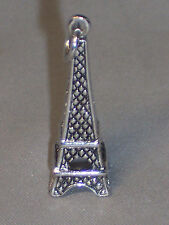 VINTAGE STERLING SILVER LARGE CHARM OF THE EIFFEL TOWER IN PARIS