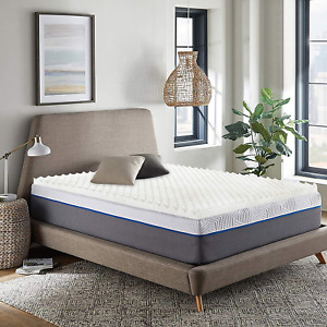 Foam Mattress Topper 1 In Convoluted Egg Crate Breathable Twin Full Queen Size