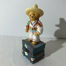 Cherished Teddies Covered Box Mexican Boy 441120 Mexico 1998 Enesco Vguc