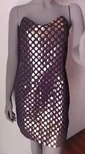 Walter Baker Strapless Black Cocktail Dress Gold Lame Dots Size 6