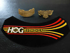 Hog Harley Owners Group 2017 ricamate + PIN + LADY PIN