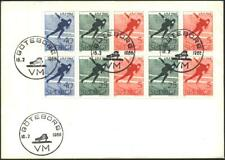 FDC Sports Speed skating 1966 from Sweden  avdpz