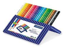 Staedtler Ergo Soft Triangular Coloured Pencils Pack of 24 Crayons (157 SB24)
