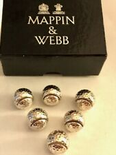Vintage White Metal Mappin & Webb Golf Ball Place Card Holders