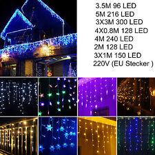 Cadena De Hadas Curtian Colgante lcicle Luces LED Lámpara Navidad Boda Fiesta al Aire Libre