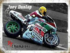 Joey Dunlop TT Champion Isle Of Man Race Honda Motorbike Large Metal/Tin Sign