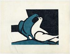 Antique Print-PIGEON-DOVES-Overhaus-1979