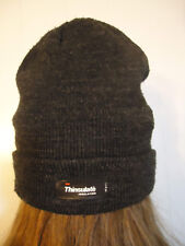 3M Thinsulate Insulated Adult Hat Beanie Black / Gray One Size