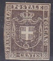 1860 TOSCANA GO. PR. 10 CENT BRUNO SENZA GOMMA (*) SASSONE 2016 n°19 € 1.625