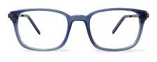 NEW Eco Atlanta Gray Blue Crystal Unisex Recycled Plastic Eyeglasses 49-19