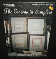 Leisure Arts THE SEASONS IN SAMPLERS Color Cross Stitch Chart Patterns Leaflet