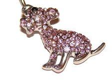 Pink Crystal Puppy Dog - Navel Belly Bar