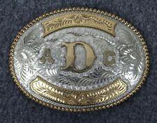 Vintage *ADC* Silversmith Collection Award Design Medal 24KGP Belt Buckle