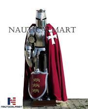 Full Suit Of Armor KNIGHT Helmet Medieval Collectible Crusader Greek Shield