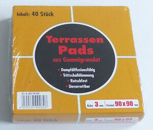 Terrassenpads in 3mm Stärke  40 Stück pro Paket