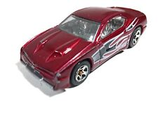 Hot Wheels 2003 Rapid Transit Diecast Toy Car Red with Black Flames #2