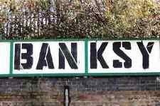 BANKSY Tag stensil A4 signo Aluminio Metal