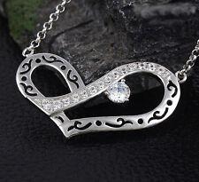 Designer Halskette Herz mit Swarovski Crystal Zirkonia 18KGP Weißgold pl
