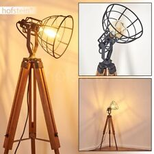 Flur Lampen Retro Steh Stand Boden Beleuchtung Holz Wohn Schlaf Zimmer Leuchten