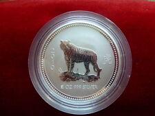 2 Unzen Silbermünze Australien Lunar I Tiger 2010