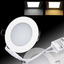 LED Panel Einbaustrahler Deckenleuchte Einbau Leuchte eckig rund ultraslim slim