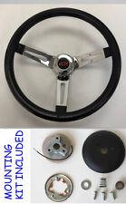 """Chevelle Camaro Nova Grant Black Chrome Spoke Steering Wheel 13 1/2"""" Red/Black"""