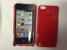 FOR APPLE iPod touch 5TH 6th generation RED CLIP-ON PLASTIC HARD CASE COVER