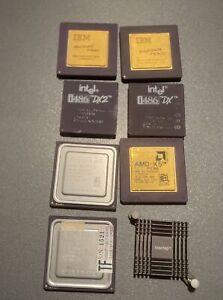 lot 7 processeur IBM 6x86 Intel I486 AMD K6 K5 Vintage