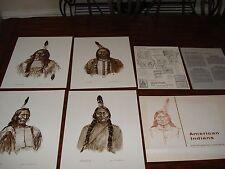 American Indian Prints by James M. Kalman Unique Prints RED BULL CROW KING....