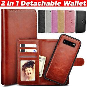 Case For Samsung S20 Plus S10 S9 Detachable Magnetic Flip Wallet Leather Cover