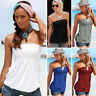 Sexy Women Off Shoulder Elastic Tube Tank Tops Blouse Strapless Bandeau Shirts N