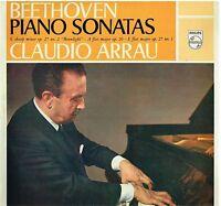 Beethoven: Piso Sonata Op.27 N.1 , 2 , Op.26 / Claudio Arrau - LP Philips Ex/Ex