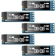 5 Pieces I2C Display Module 0.91 Inch SSD1306 OLED Screen Driver DC 3.3V5V &