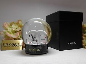 "CHANEL 2019 VIP HOLIDAY Snow Globe Size 4""H x 3.5""W + Black Box*****LIMITED"