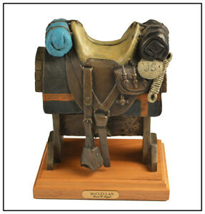 David Argyle Original Bronze Sculpture Signed McClellan Saddle Western Artwork
