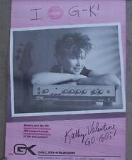 Rare Kathy Valentine Go-Go's Gallien Krueger Store Promo Advertising Poster