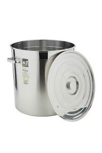 NEW LARGE 35L STAINLESS STEEL STOCK POT SAUCE SET