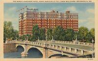 Indianapolis Indiana~Marott Apartment Hotel~1940s Postcard