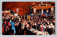 Miami Beach FL Castaway's Shinto Temple Restaurant Florida Chrome c1967 Postcard