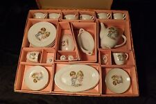 FAO Schwarz Childrens Toy Tea Set Original Box 24 Pc Porcelain Japan Boy & Girl