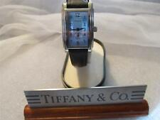 Tiffany & Co. Swiss Made Black Leather Band Watch Unisex